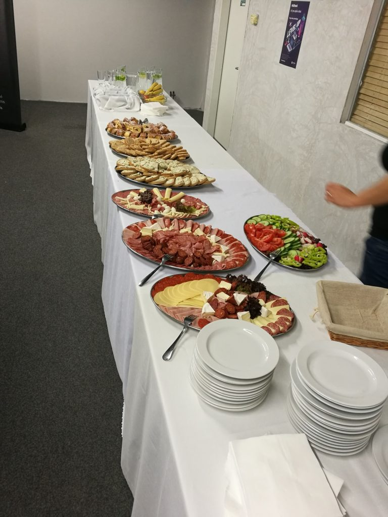 Participants had a nice little buffet to feast upon.