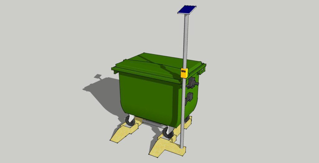 Vizualization of WasteX smart weight scale