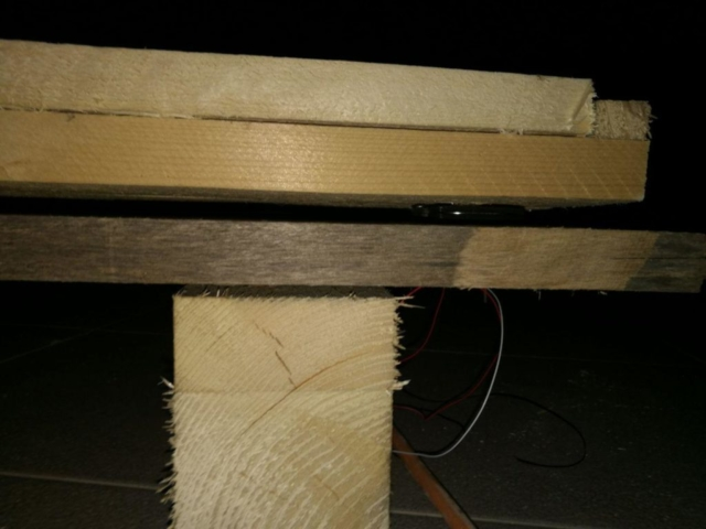 Side view of the ramp.