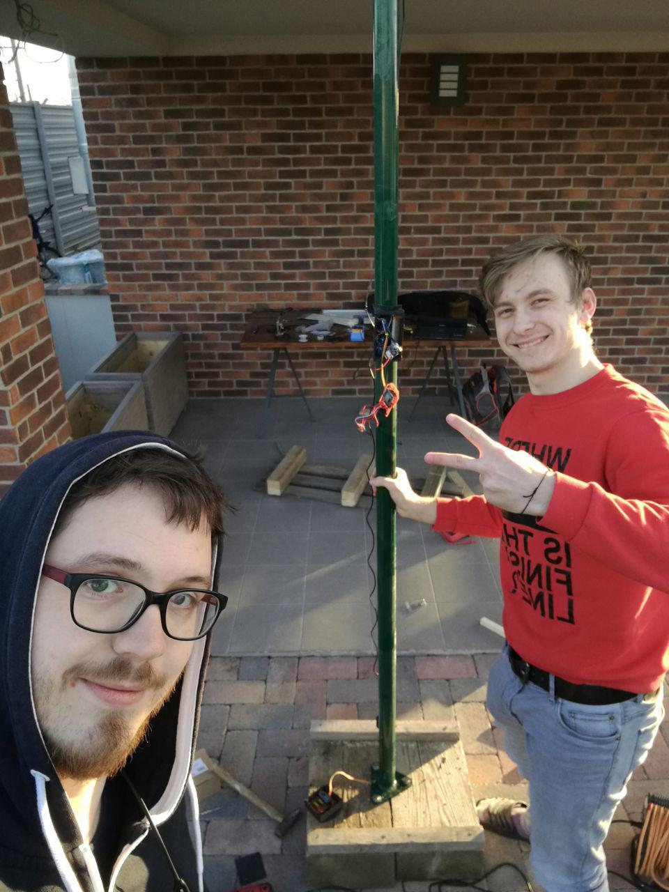 Despite being close to a deadline, you gotta pose for a selfie