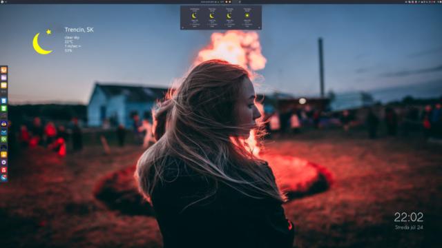 Ubuntu Budgie 19.04 Desktop - Weather